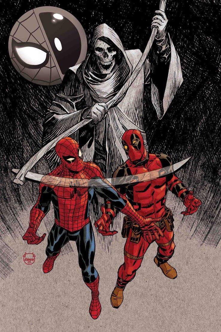Spider-Man/Deadpool #50, copertina di Dave Johnson