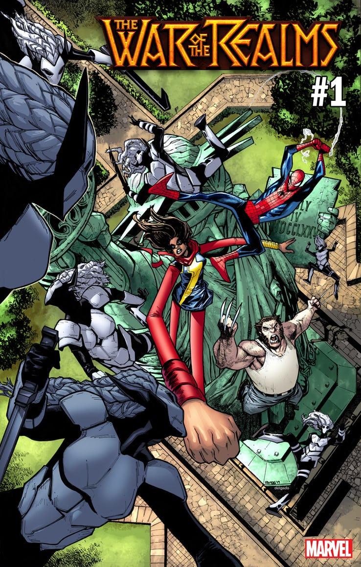 War of the Realms #1, variant cover di Humberto Ramos