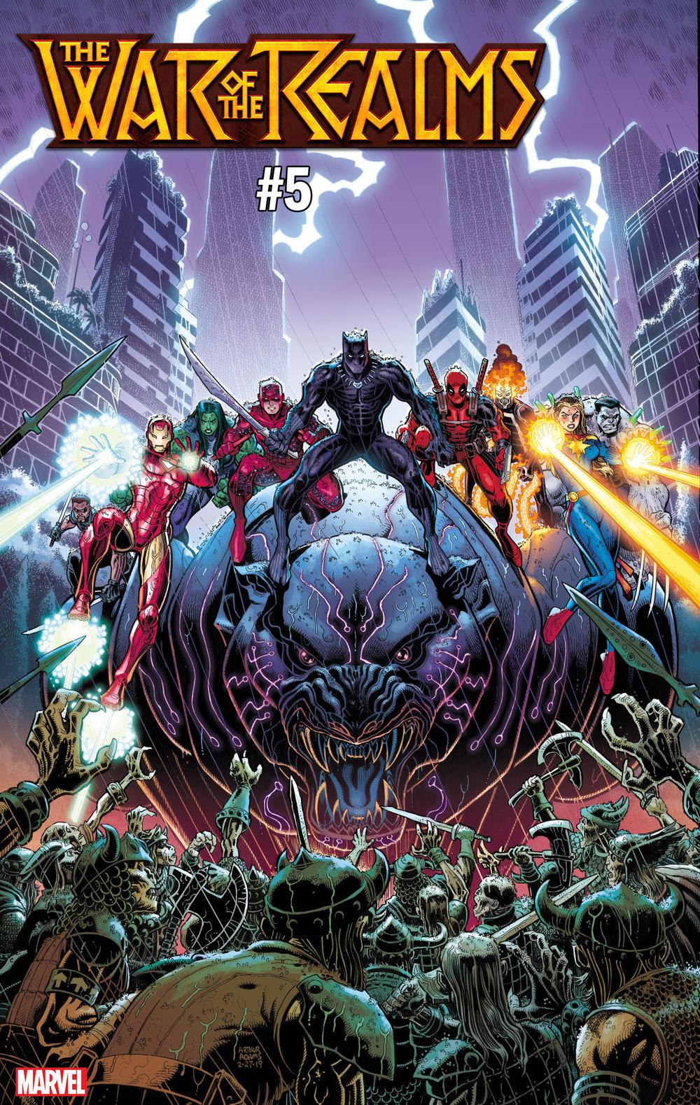 War of the Realms #5, copertina di Arthur Adams