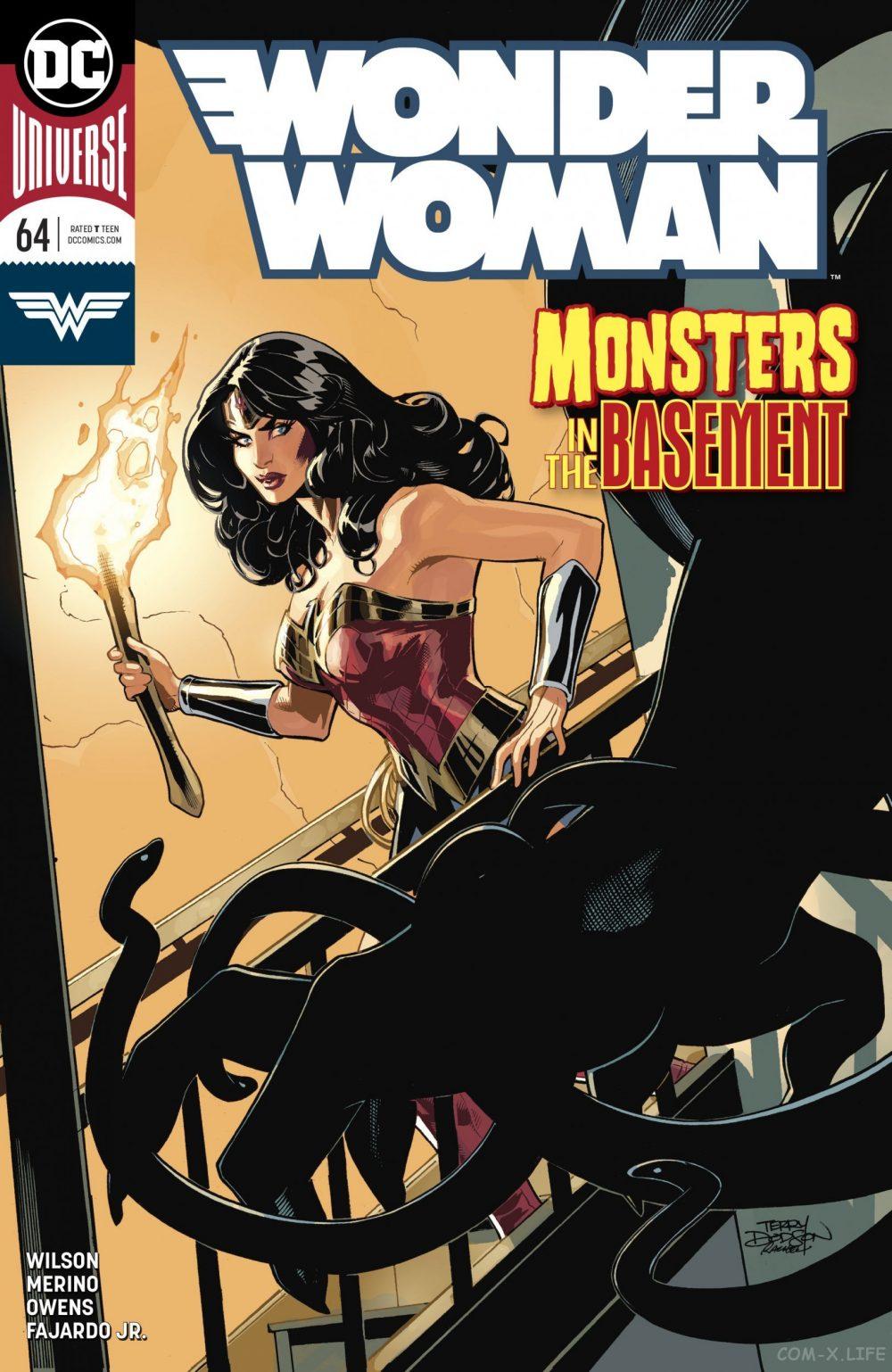 Wonder Woman #64, copertina di Terry Dodson