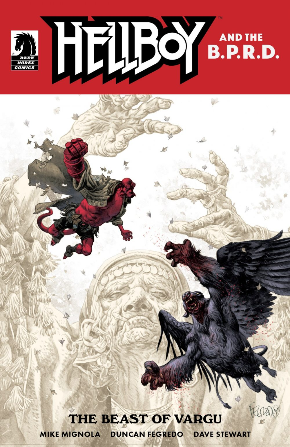 Hellboy and the B.P.R.D.: The Beast of Vargu, copertina di Duncan Fegredo