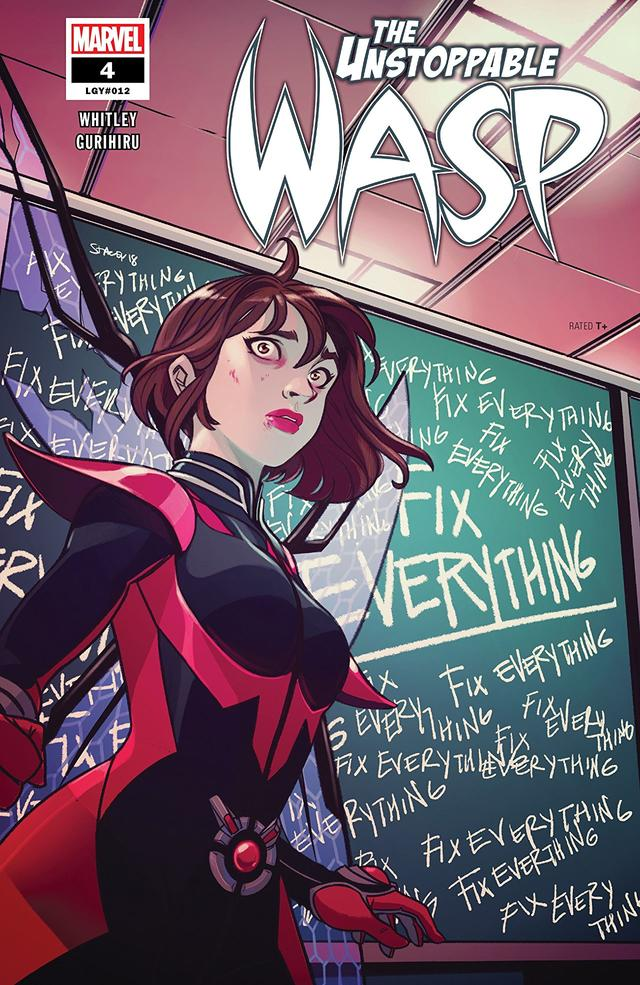 Unstoppable Wasp #4, copertina di Stacey Lee