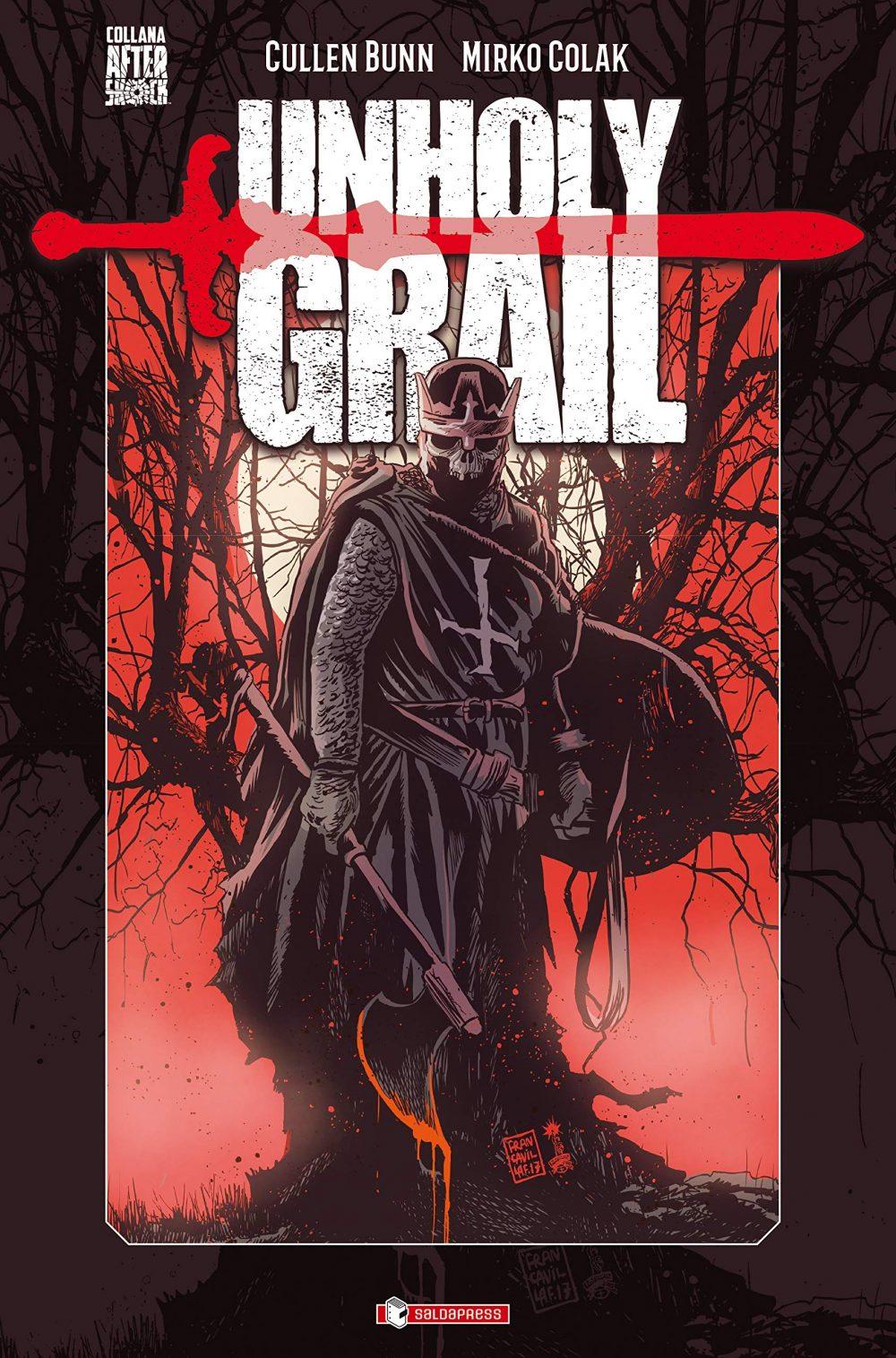 Unholy Grail, copertina di Francesco Francavilla