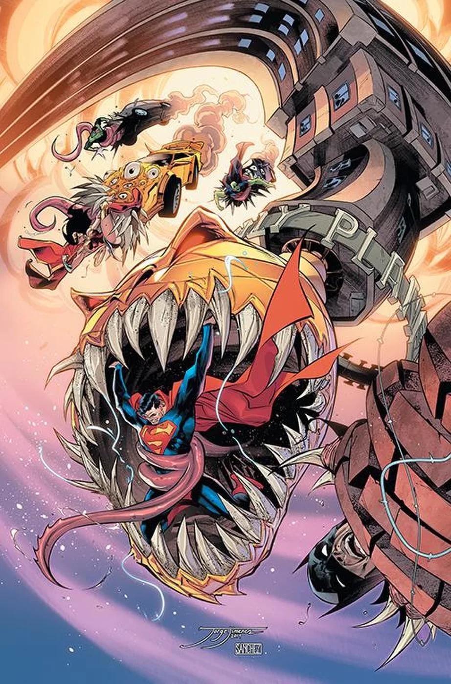 Justice League #19, copertina di Jorge Jimenez