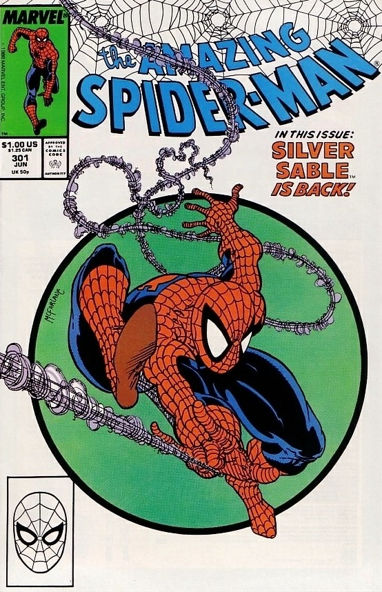 Amazing Spider-Man #301, copertina di Todd McFarlane
