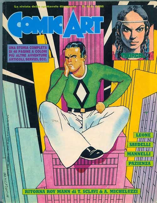 Comic Art 43, copertina di Attilio Micheluzzi
