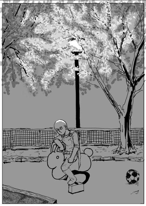 One-Punch Man, illustrazione di One