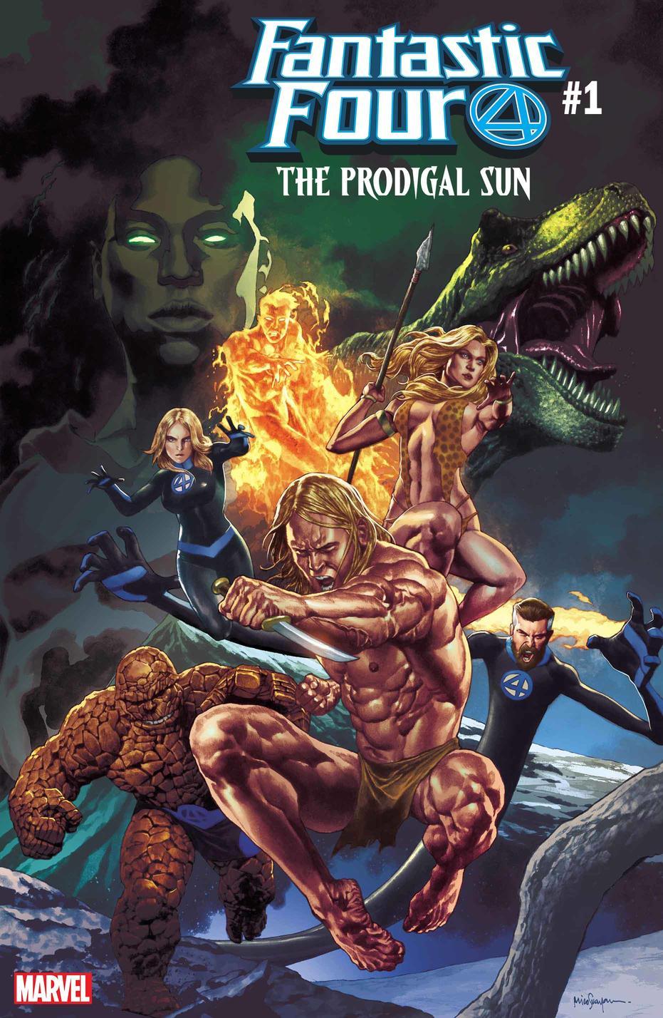 Fantastic Four The Prodigal Sun #1, copertina di Mico Suayan