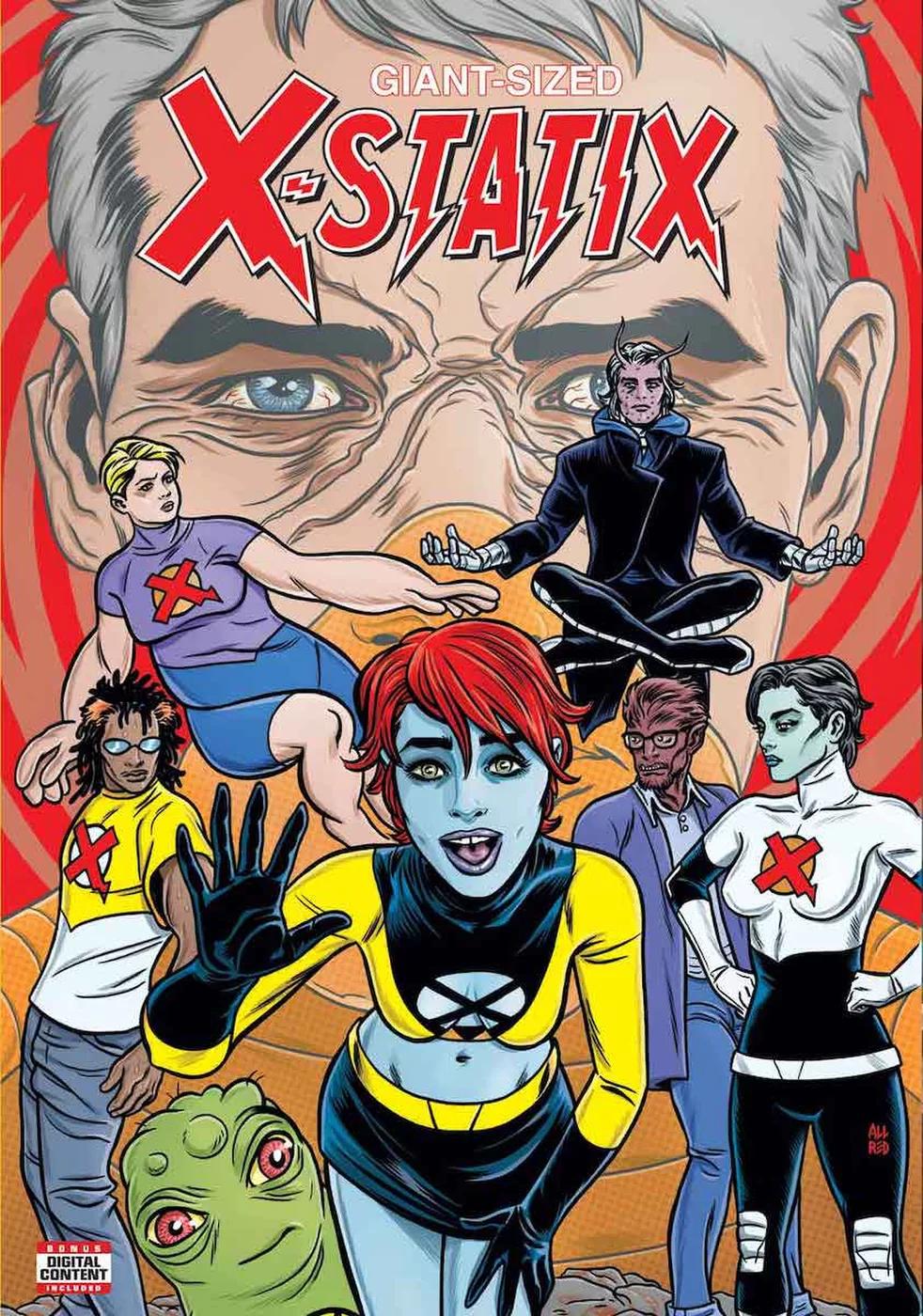Giant-Sized X-Statix #1, copertina di Mike Allred