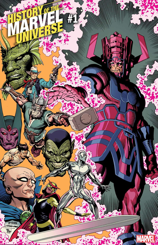 History of the Marvel Universe #1, copertina di Steve McNiven