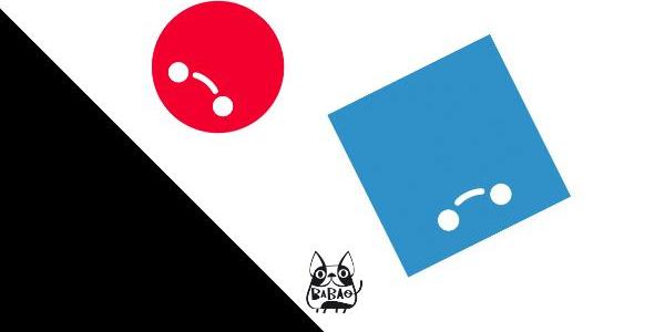 palla rossa e palla blu