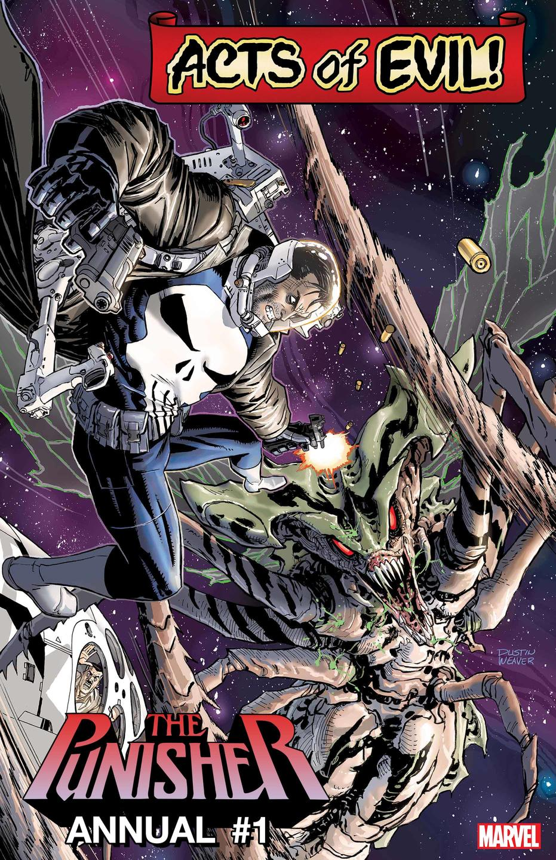 Punisher Annual #1: Punisher vs. Brood Queen, copertina di Dustin Weaver