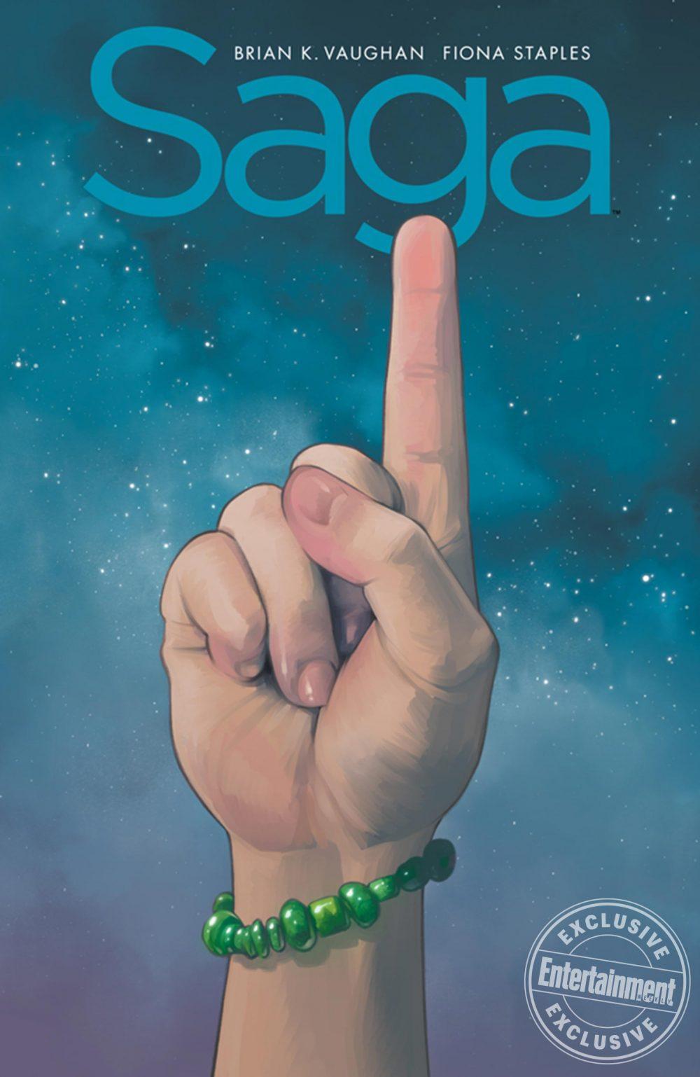 Saga: Compendium One, copertina di Fiona Staples