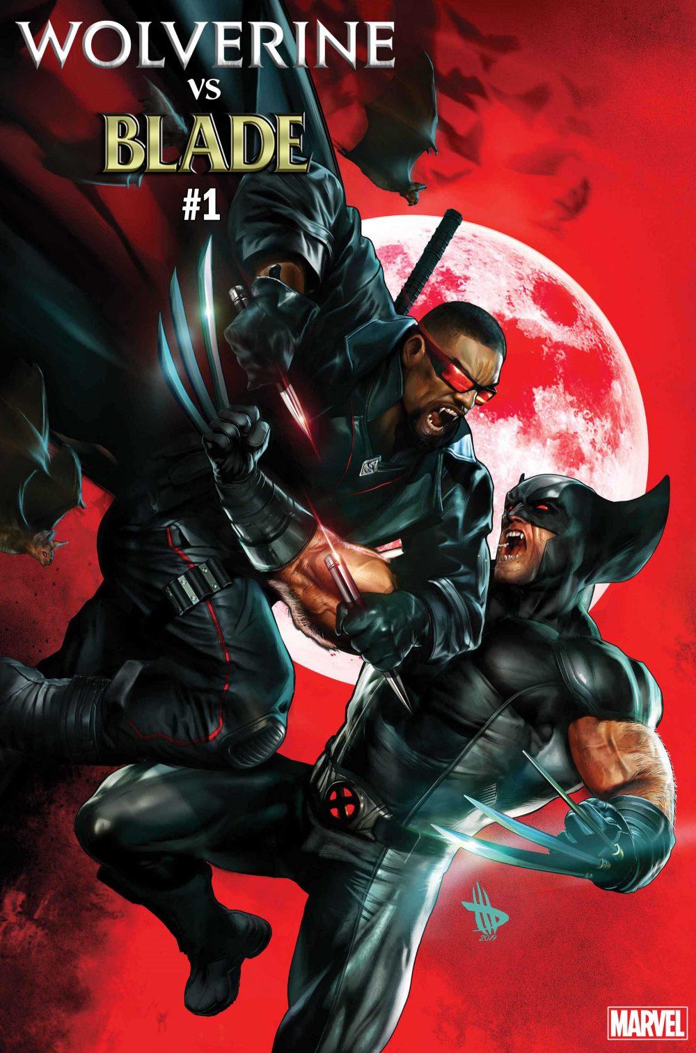 Wolverine vs. Blade Special #1, copertina di Dave Wilkins