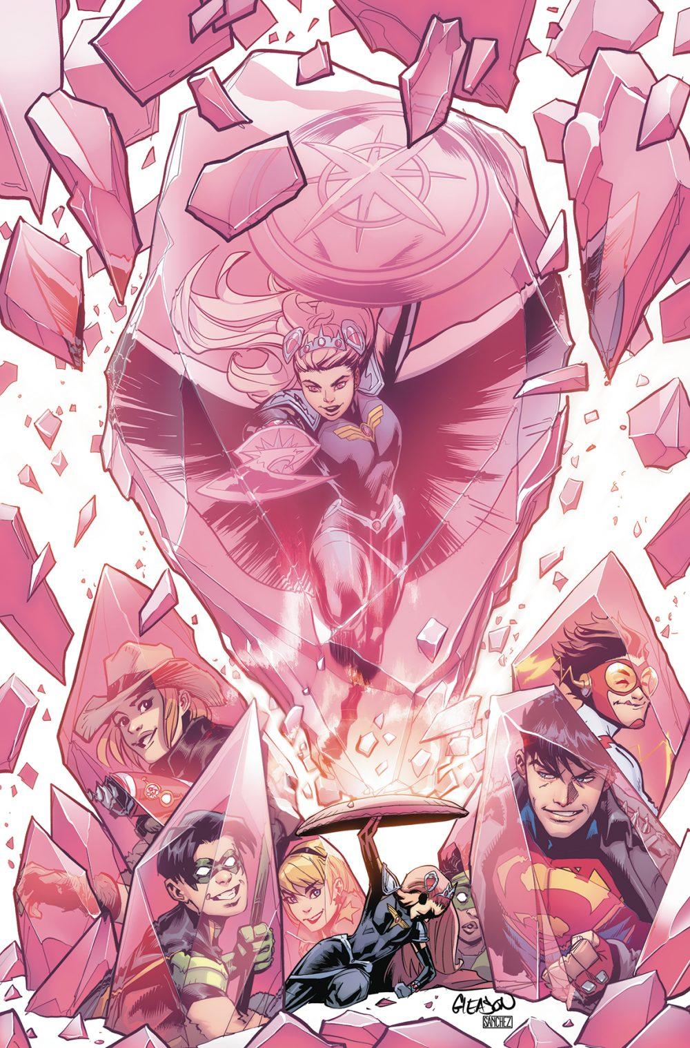 Young Justice #5, copertina di Patrick Gleason