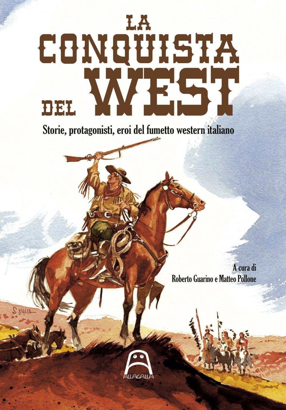 La conquista del West, copertina di Stefano Biglia