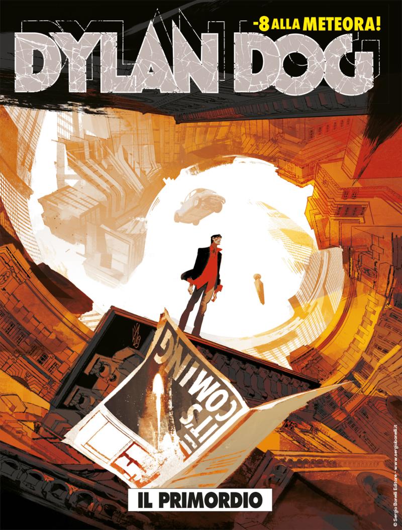 Dylan Dog 392: Il primordio, copertina di Gigi Cavenago