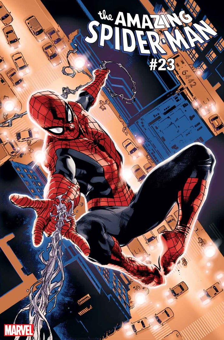 Amazing Spider-Man #23, copertina diStuart Immonen