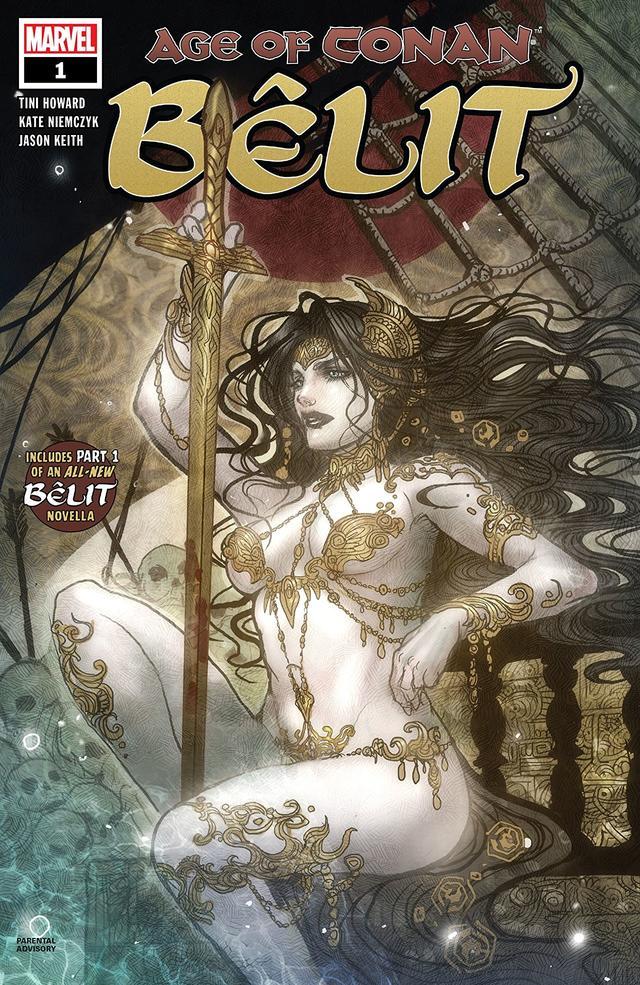 Age of Conan: Belit #1, copertina diBelit, sketch di Sana Takeda