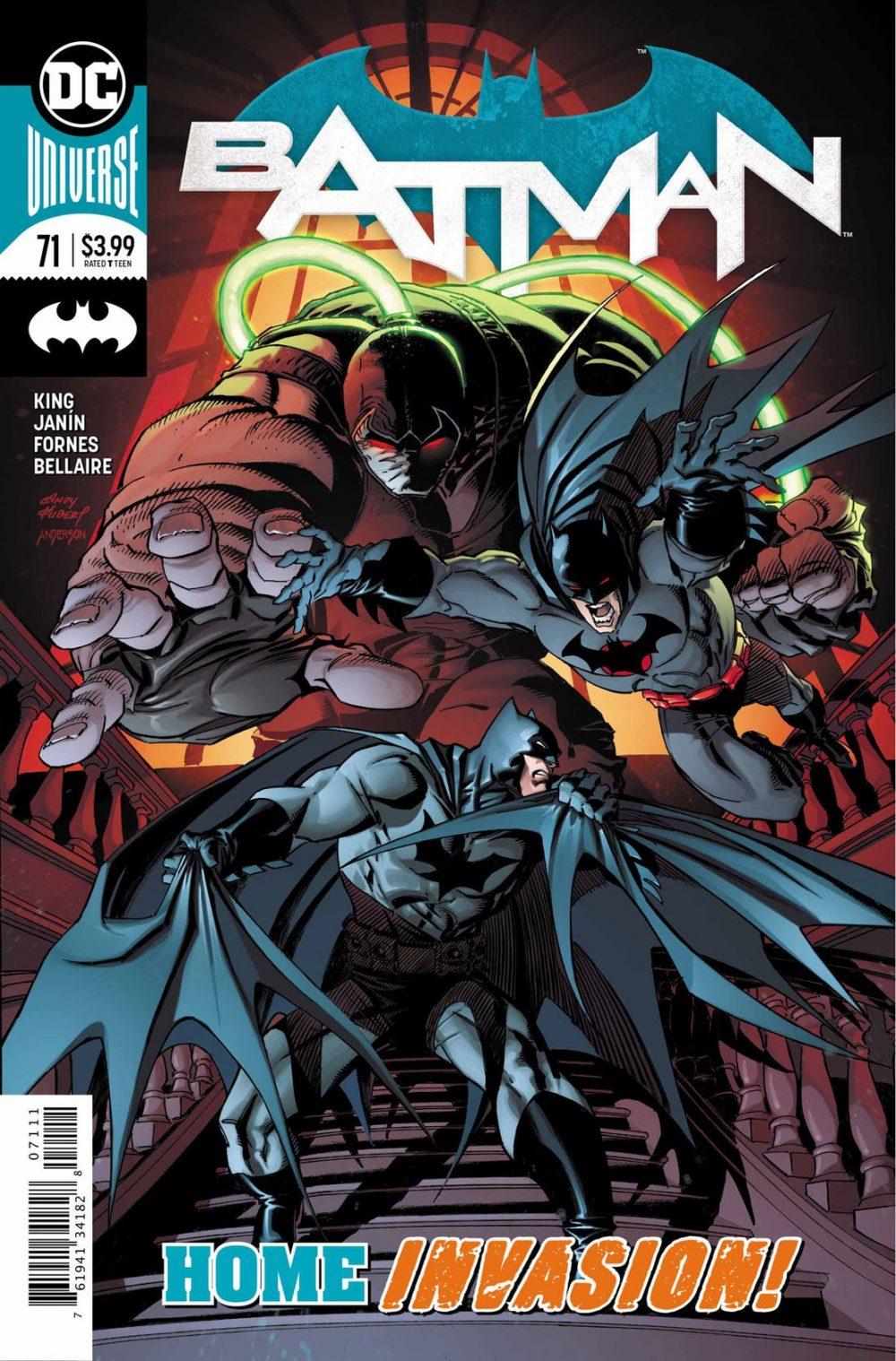 Batman #71, copertina di Mikel Janin