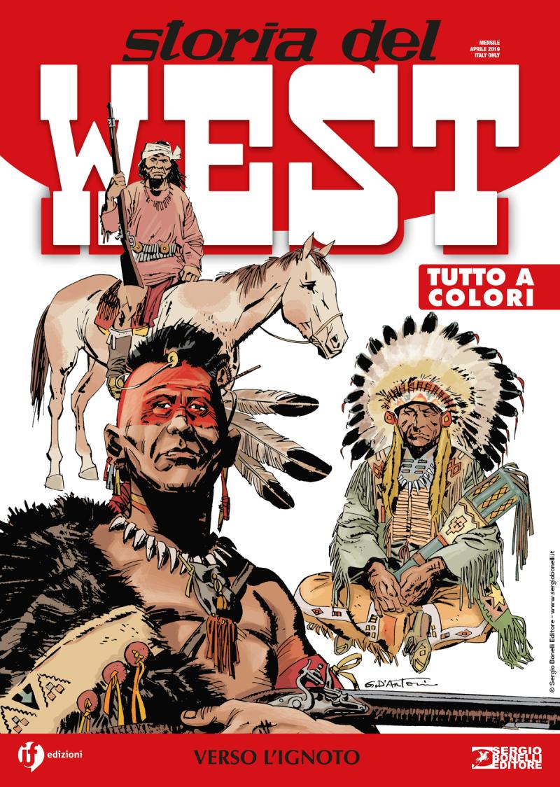 Storia del West, copertina di Gino D'Antonio