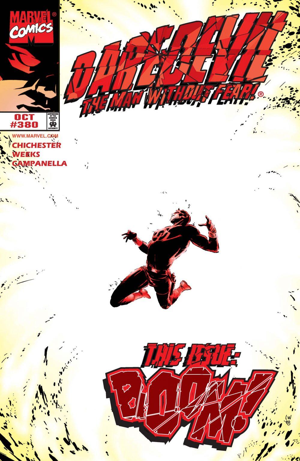 Daredevil #380, copertina