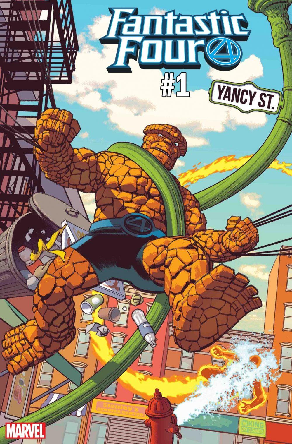 Fantastic Four: Yancy Street #1, copertina di Greg Smallwood