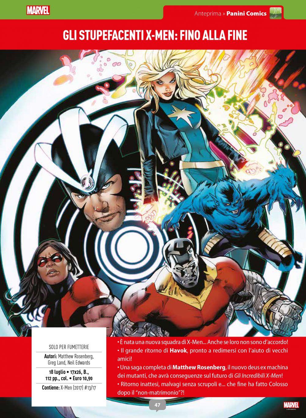 Gli Stupefacenti X-Men su Anteprima