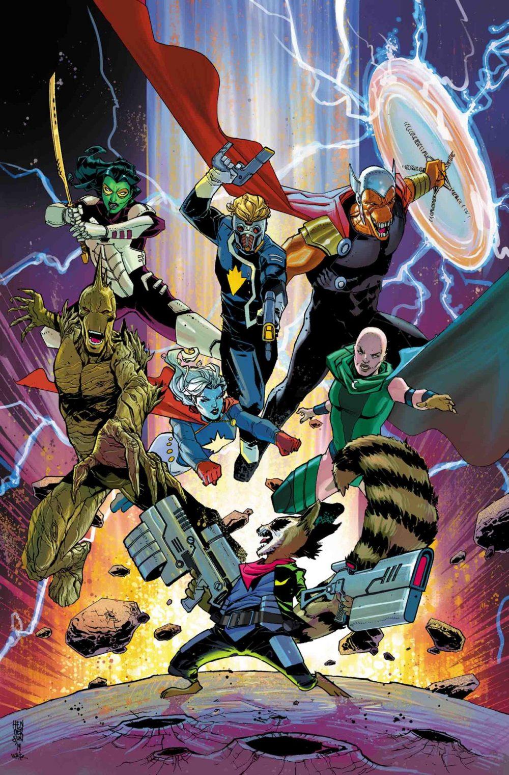 Guardians of the Galaxy #8, copertina di Mike Henderson