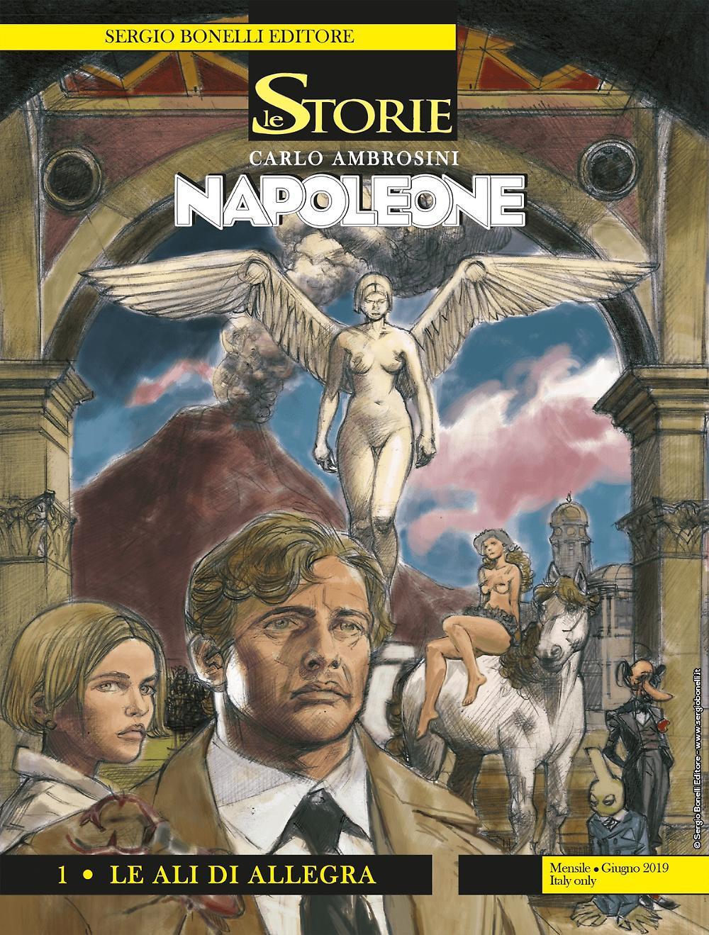 Le Storie 81: Napoleone 1 - Le ali di Allegra, copertina di Carlo Ambrosini