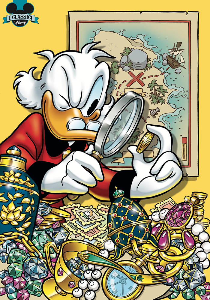 I Classici Disney 1: La grande caccia al tesoro, copertina variant di Andrea Freccero
