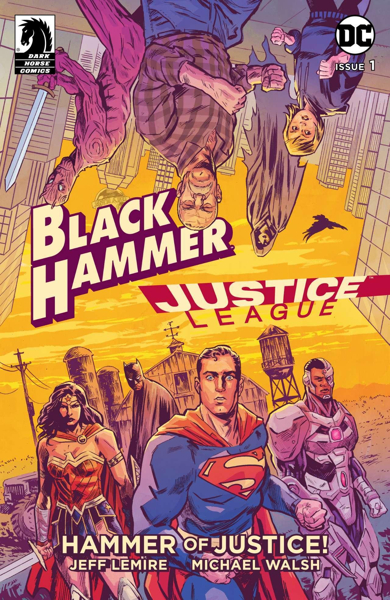 Black Hammer/Justice League: Hammer of Justice #1, copertina di Michael Walsh