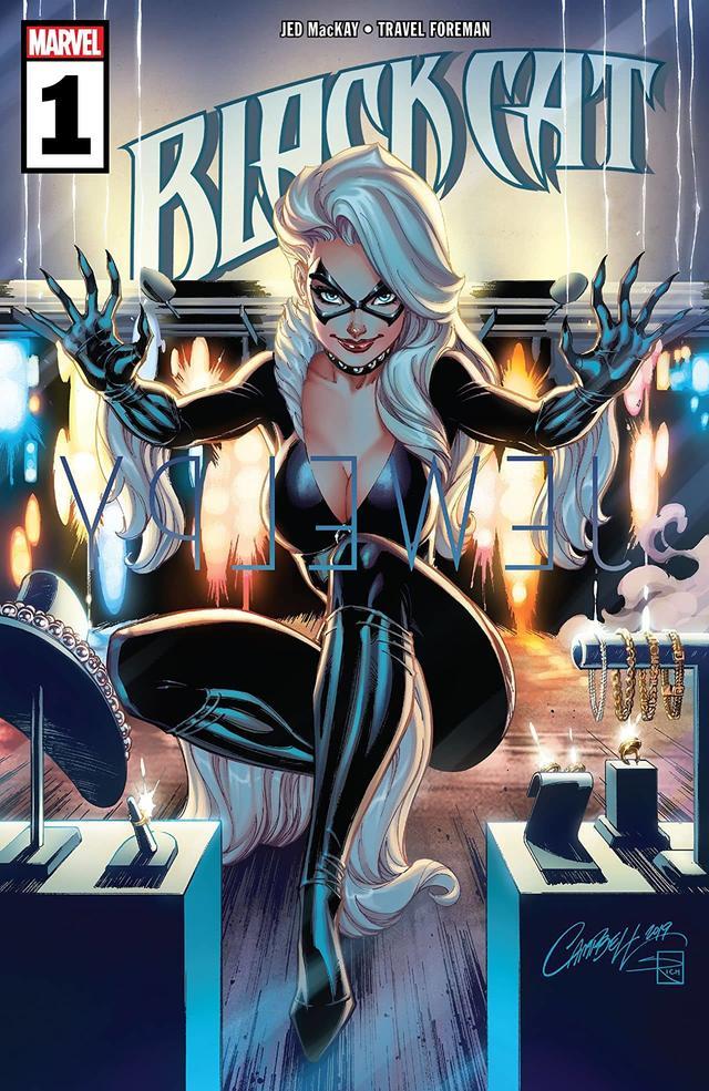 Black Cat #1, copertina di J. Scott Campbell