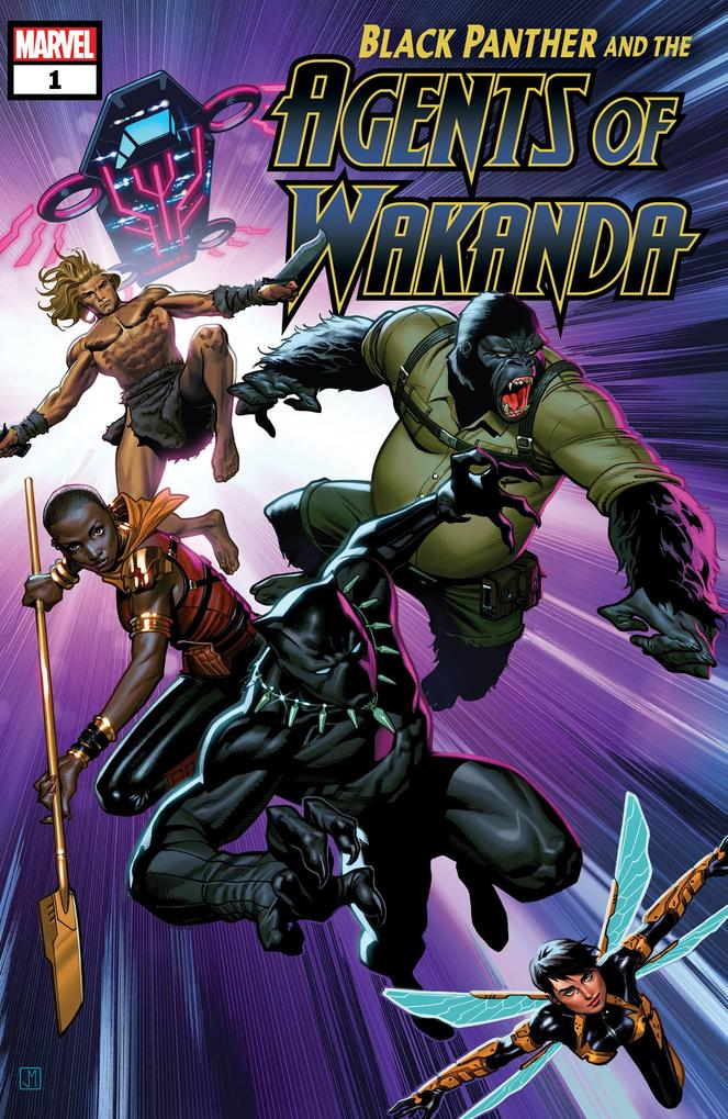 Black Panther and the Agents of Wakanda #1, copertina di Jorge Molina