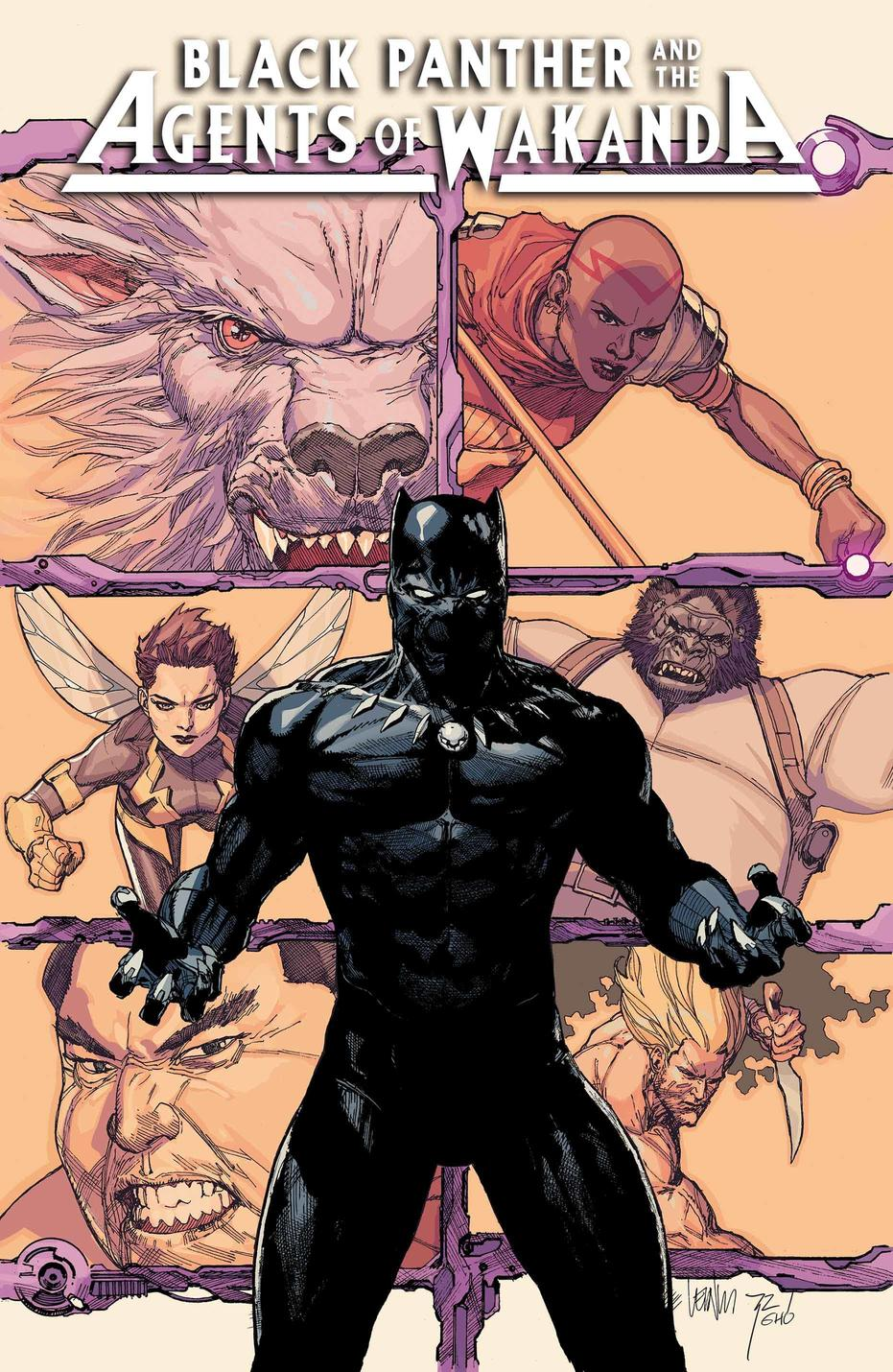 Black Panther and the Agents of Wakanda #1, variant cover di Leinil Yu
