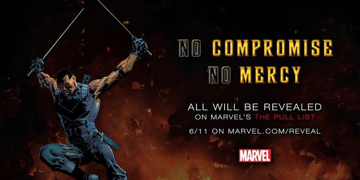 Blade, teaser Marvel