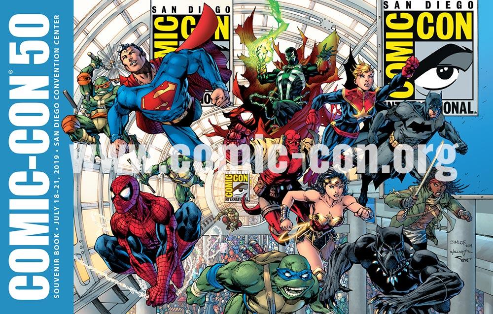 Comic-Con International: San Diego's 2019 Souvenir Book, copertina di Jim Lee