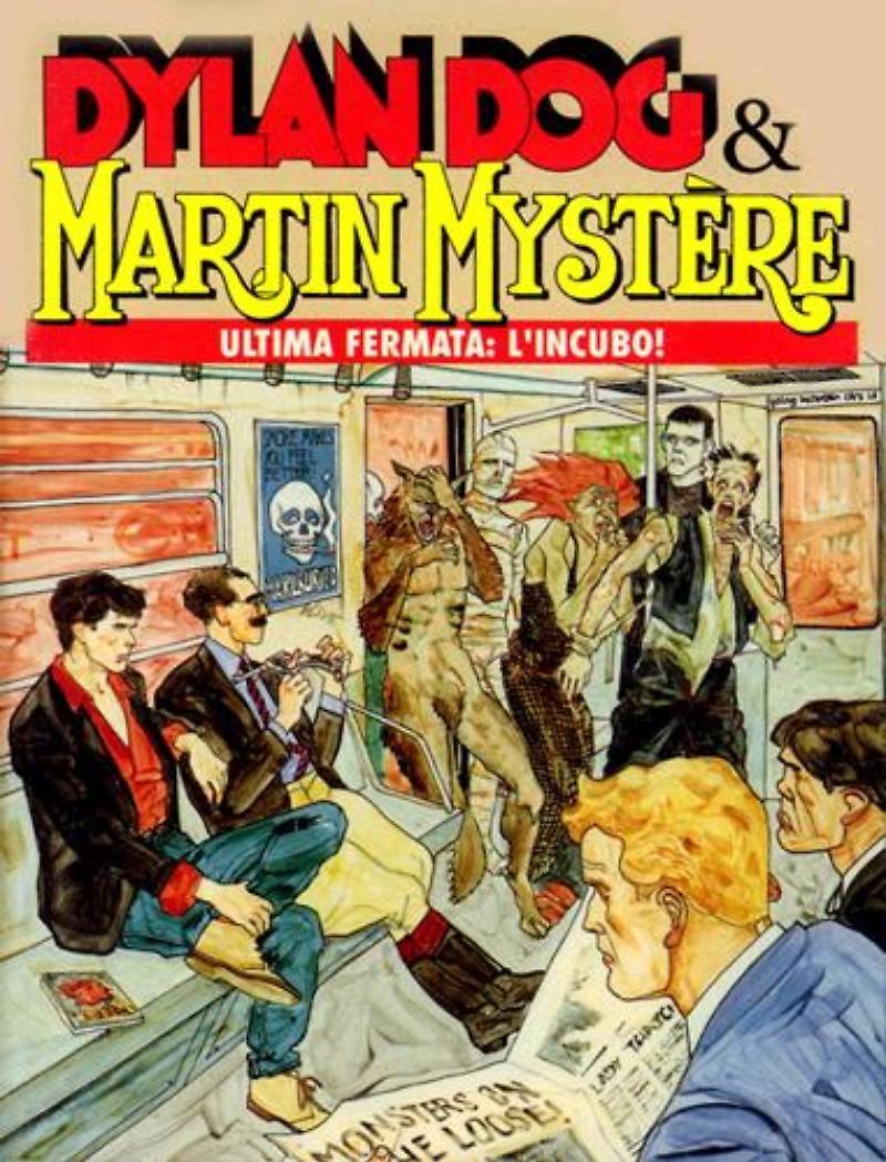 Dylan Dog & Martin Mystère - Ultima fermata: l'incubo!, copertina di Angelo Stano