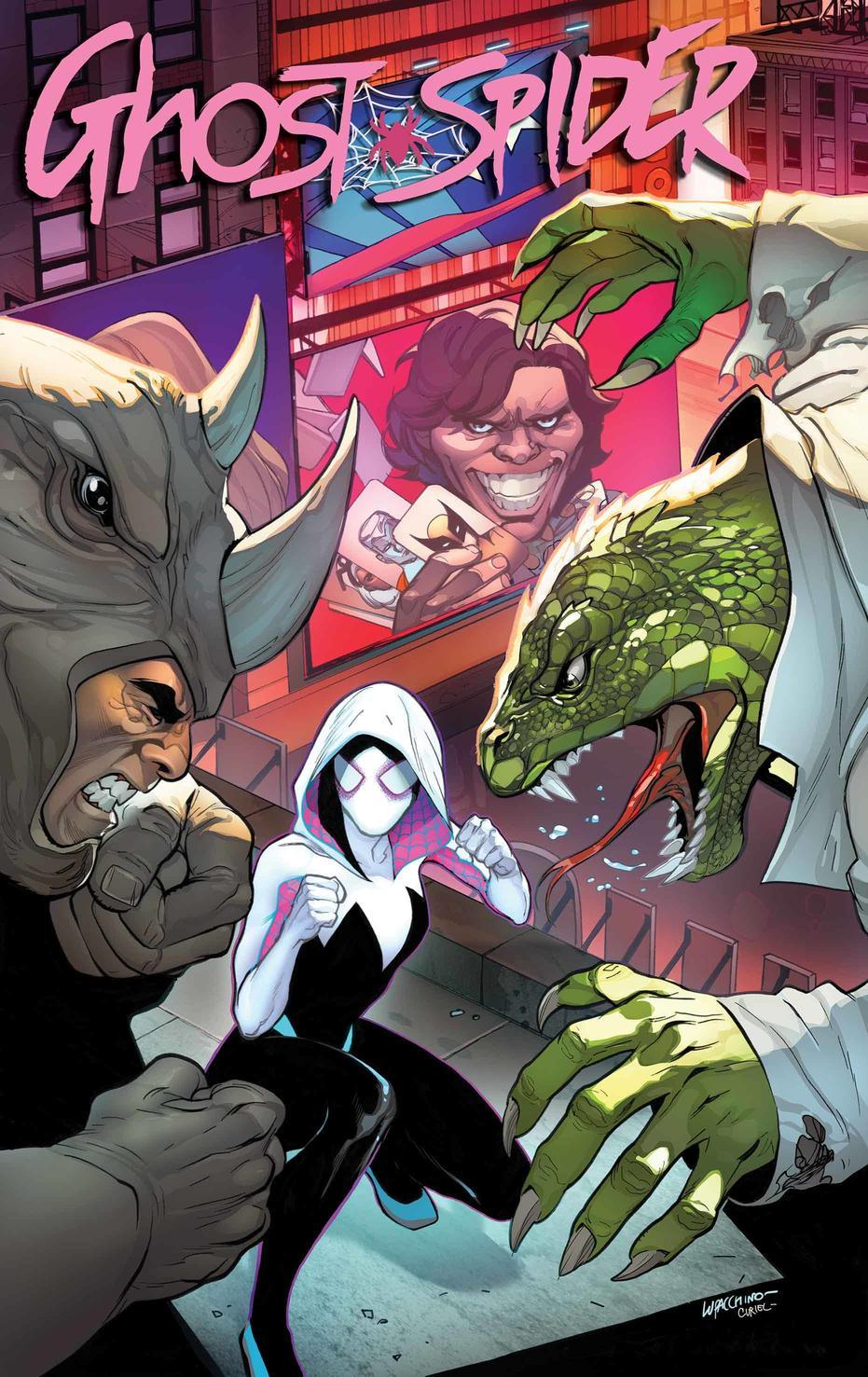 Ghost-Spider Annual #1, copertina di Emanuela Lupacchino