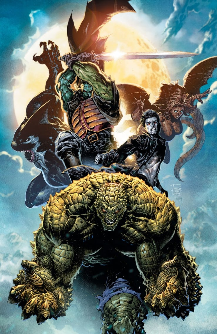 Gotham City Monsters #1, copertina di Philip Tan