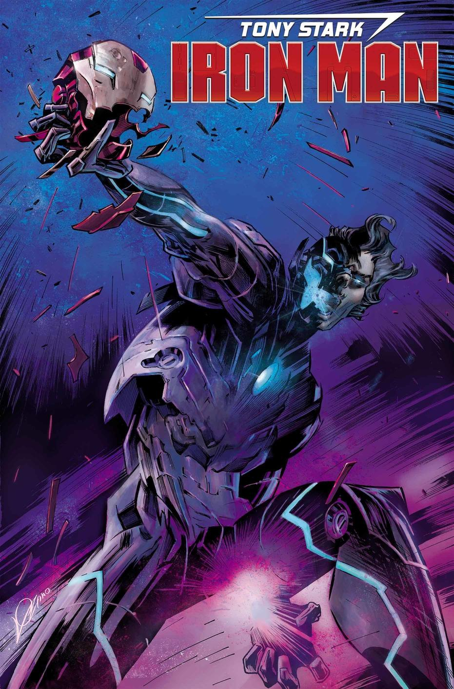 Tony Stark: Iron Man #16, copertina di Alexander Lozano