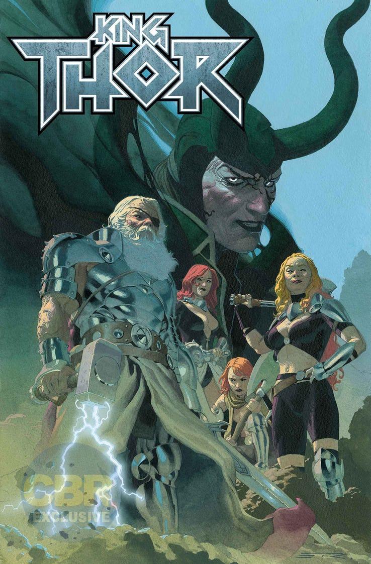 King Thor #1, copertina di Esad Ribic