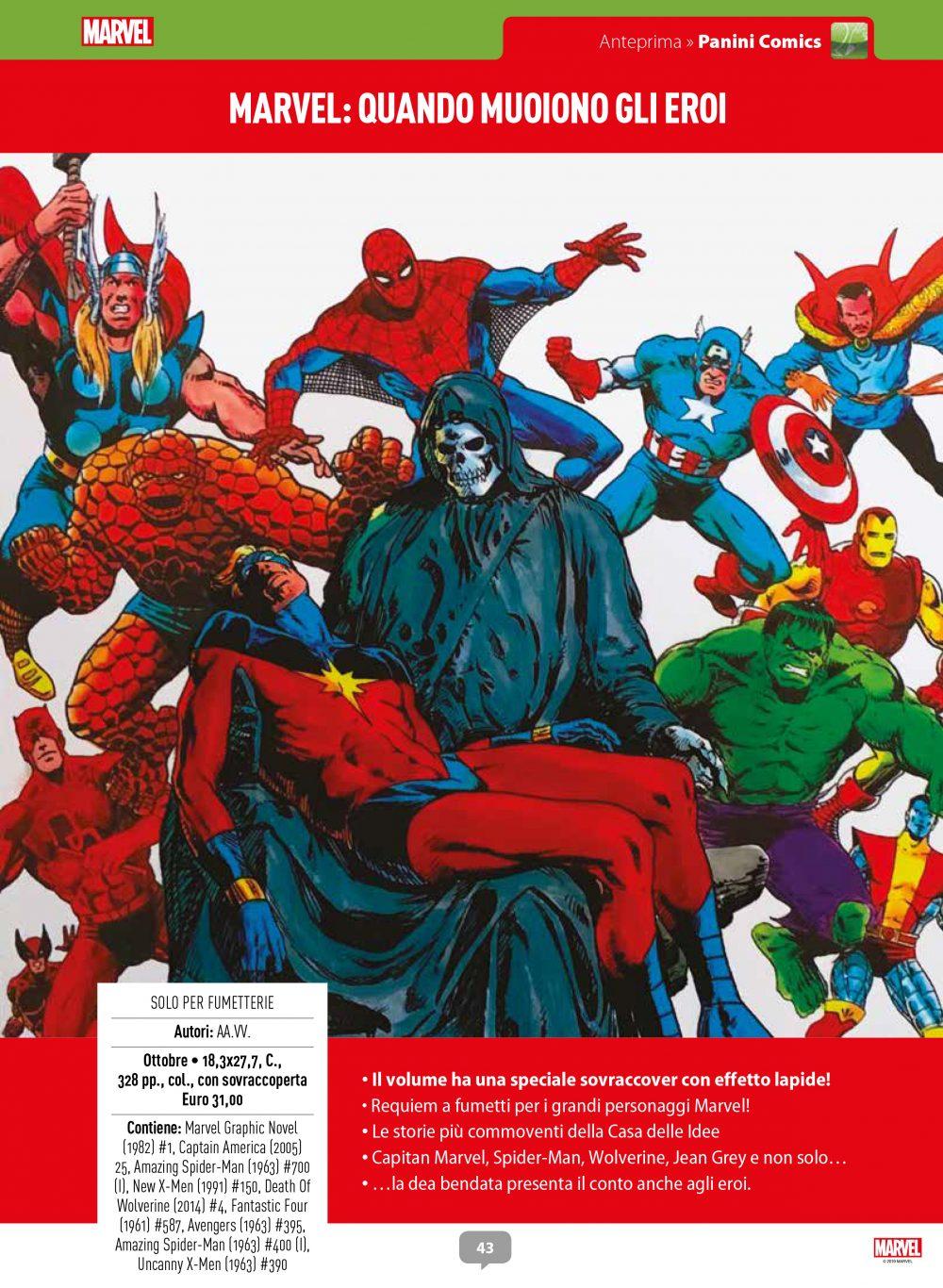 Marvel: Quando muoiono gli eroi su Anteprima