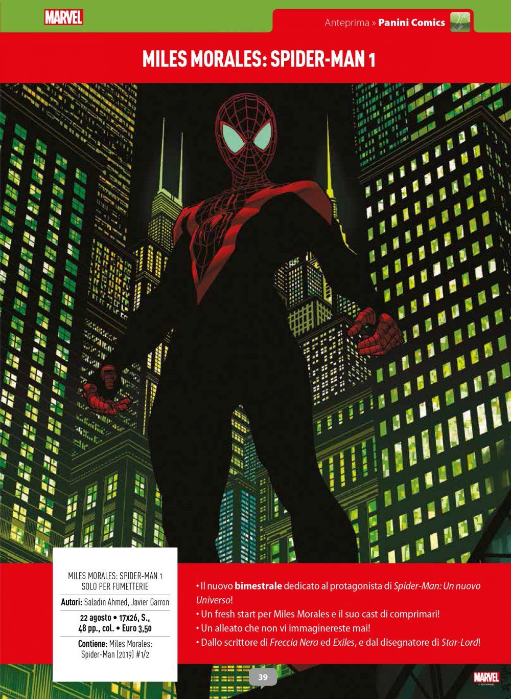 Miles Morales: Spider-Man 1 su Anteprima