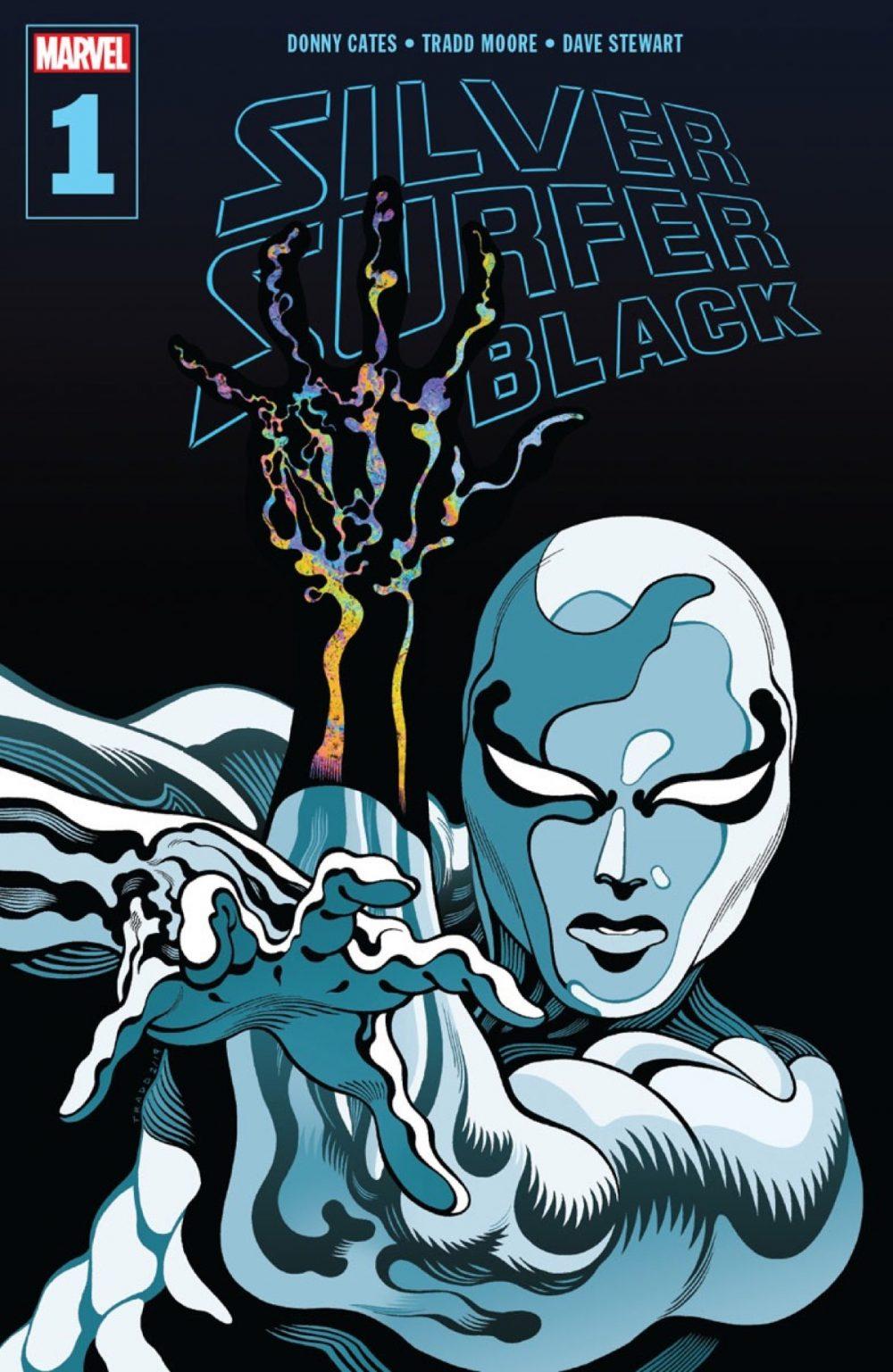 Silver Surfer: Black #1, copertina di Tradd Moore