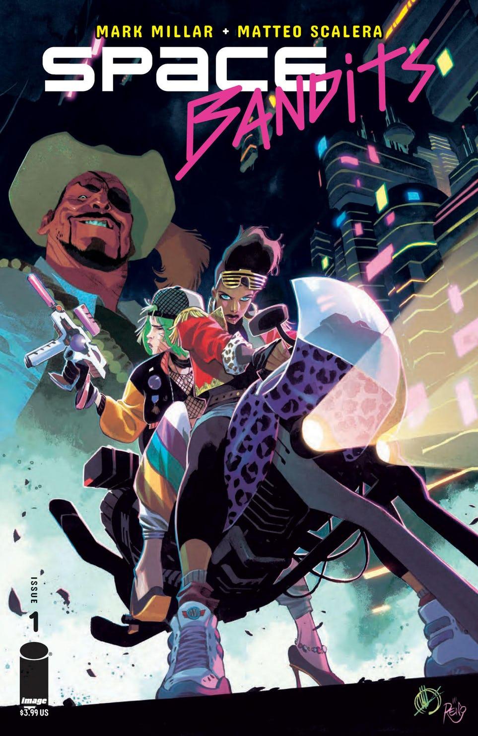 Space Bandits #1, copertina di Matteo Scalera