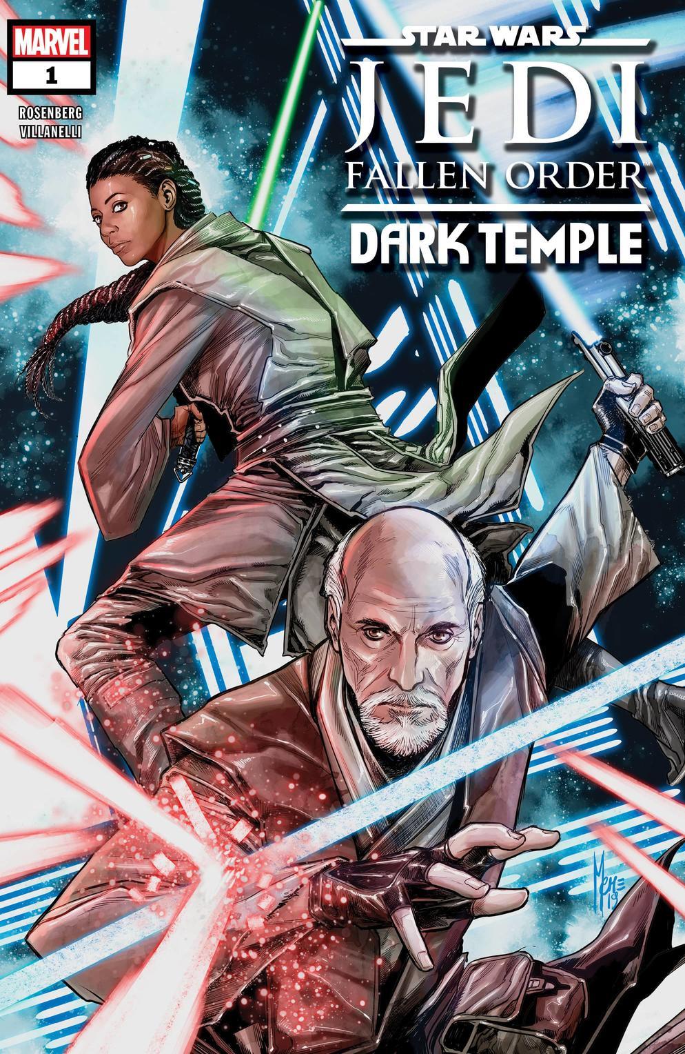 Star Wars: Jedi Fallen Order - Dark Temple #1, copertina di Marco Checchetto