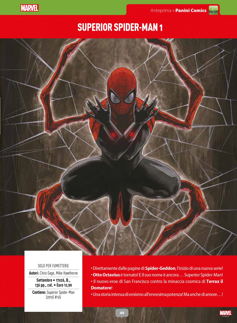 Superior Spider-Man su Anteprima