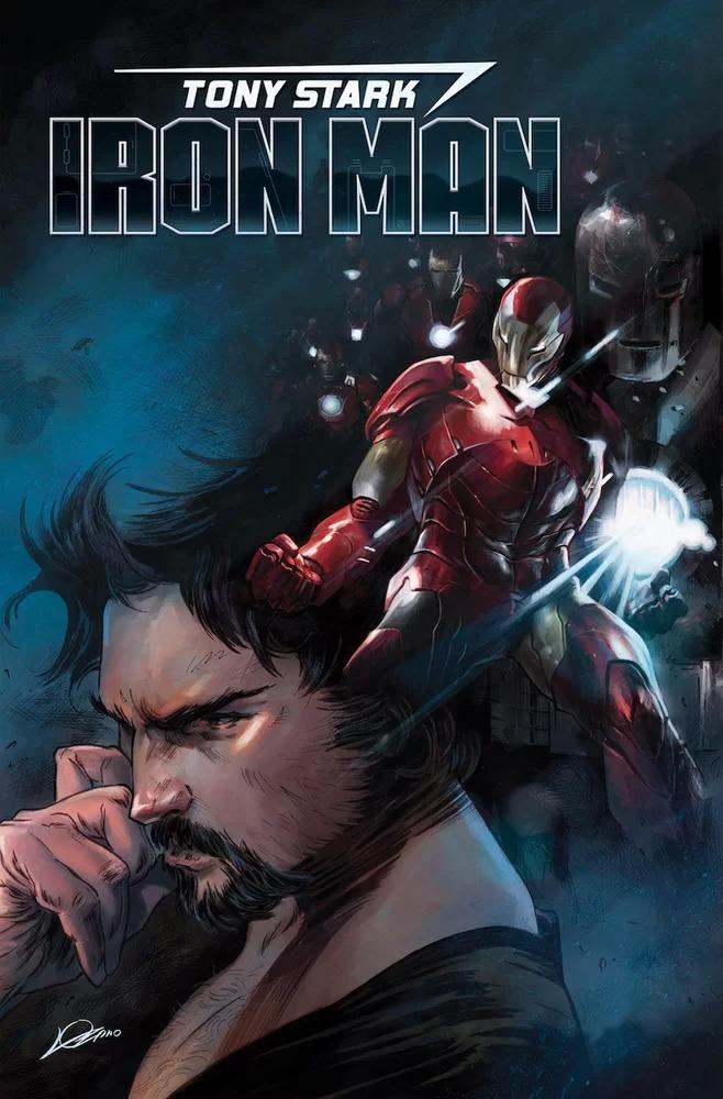 Tony Stark: Iron Man #1, copertina di Alexander Lozano