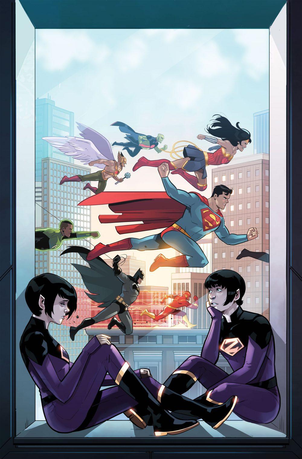 Wonder Twins #7, copertina di Stephen Bryne